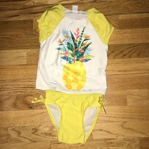 Old Navy Yellow Pineapple Swim Suit 4T